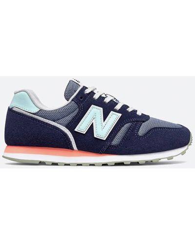Синие замшевые кроссовки на шнуровке New Balance