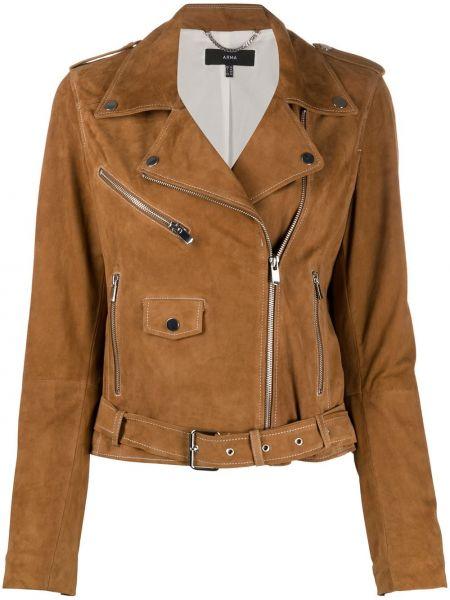 Длинная куртка байкерская серебряная Arma