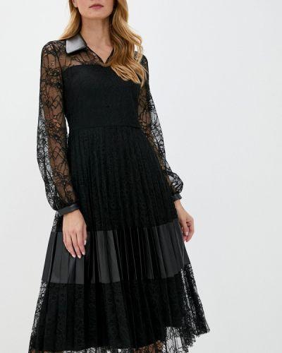 Черное вечернее платье Perspective
