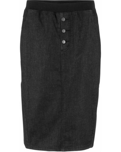 Джинсовая юбка на резинке с поясом Bonprix