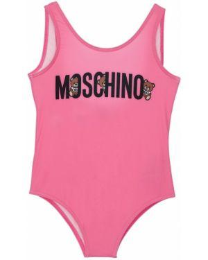 Strój kąpielowy z nadrukiem na szyi Moschino