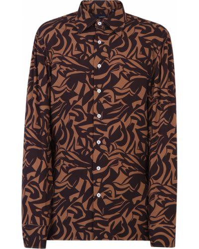 Brązowa koszula Lardini