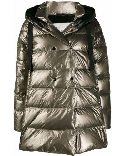 Коралловое длинное пальто Hetrego