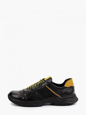Черные кожаные кроссовки Nexpero