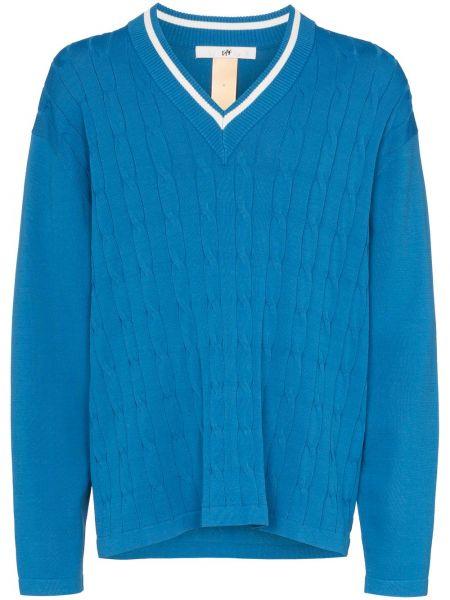 Niebieski sweter oversize z długimi rękawami Eytys