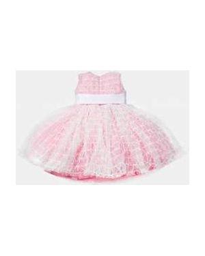 Платье с поясом розовое на торжество Gulliver Wear