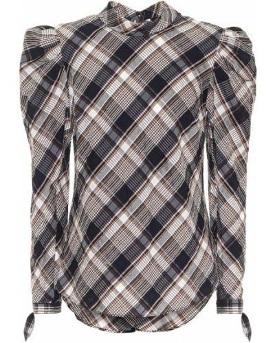 Ватная серая блузка из вискозы Veronica Beard