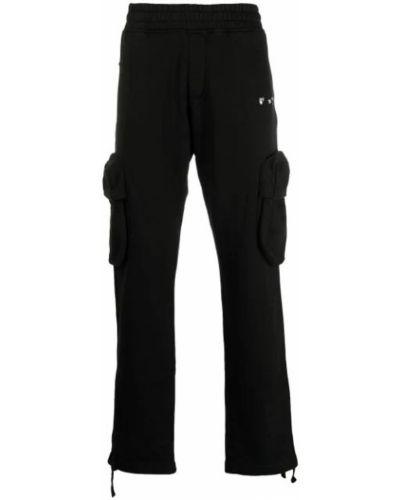 Czarne spodnie bawełniane Off-white