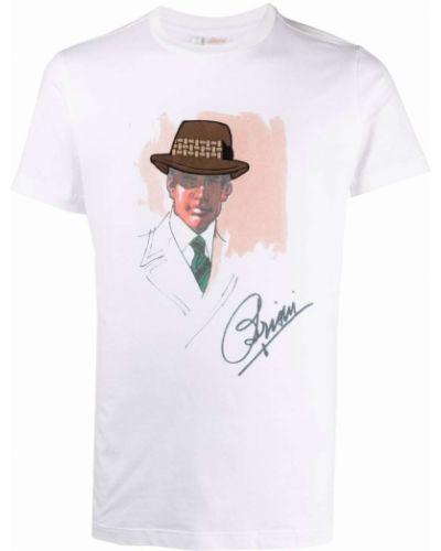 Белая футболка с короткими рукавами Brioni