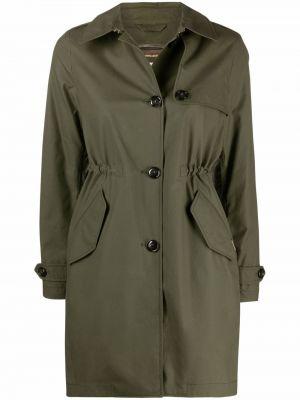 Длинное пальто - зеленое Woolrich