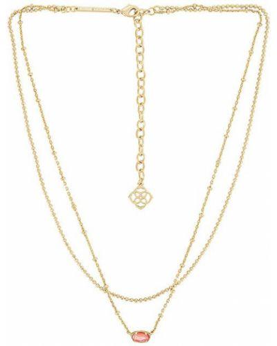 Złoty naszyjnik perły pozłacany Kendra Scott