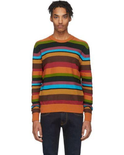 Sweter z kołnierzem w paski Etro