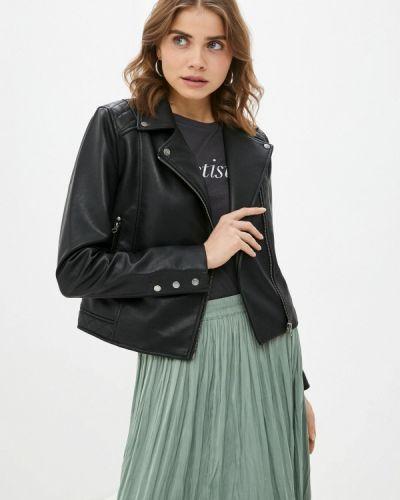 Черная кожаная джинсовая куртка Pepe Jeans