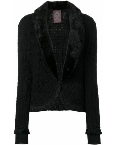 Черный пиджак винтажный John Galliano Pre-owned