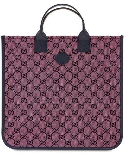 Розовая хлопковая сумка Gucci