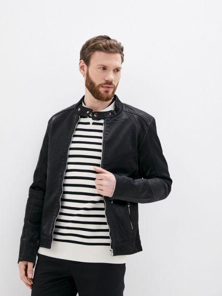 Кожаная синяя кожаная куртка прозрачная Jackets Industry
