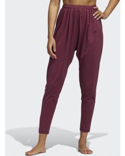 Бордовые брюки с заниженным шаговым швом Adidas