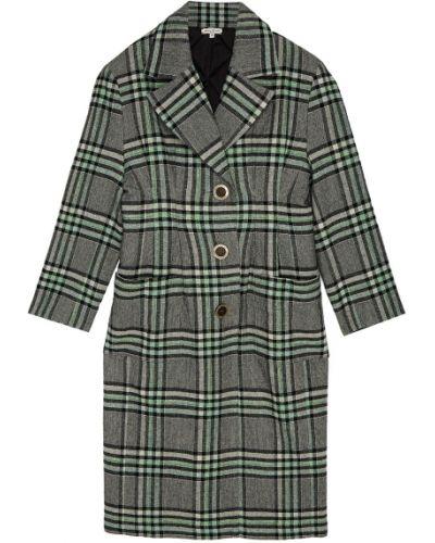 Пальто серое зеленое Natasha Zinko