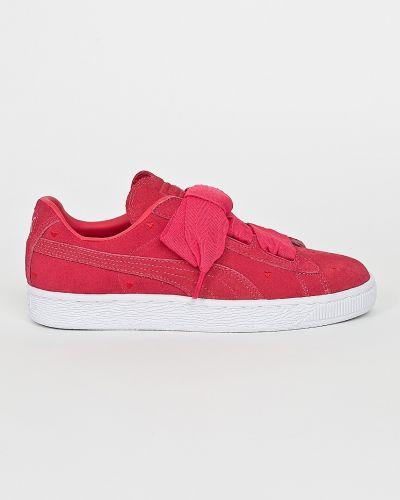 Кроссовки замшевые розовый Puma