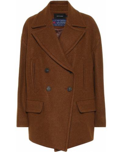 Коричневое шерстяное пальто классическое Low Classic