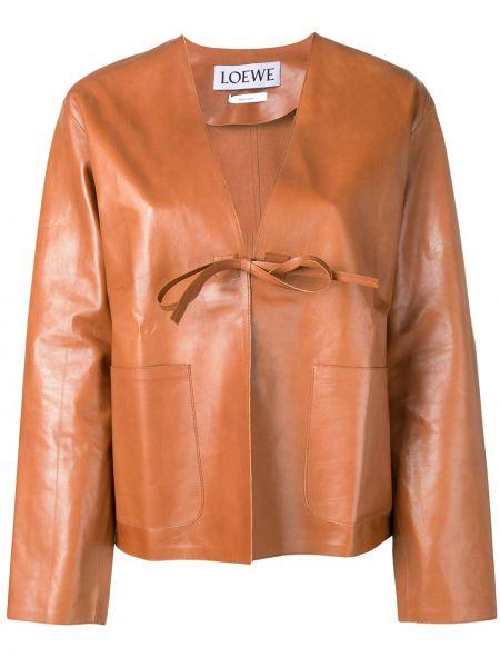 Кожаная куртка с карманами прямая Loewe