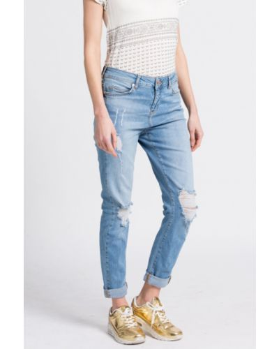 Прямые джинсы с нашивками Noisy May