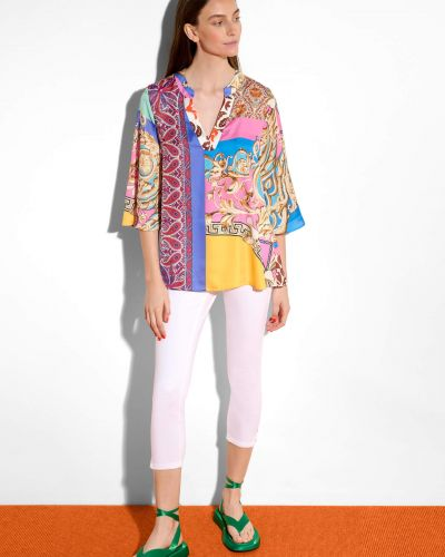 Bluzka materiałowa - fioletowa Orsay