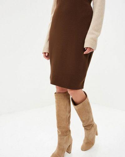 Юбка карандаш коричневый Milana Style