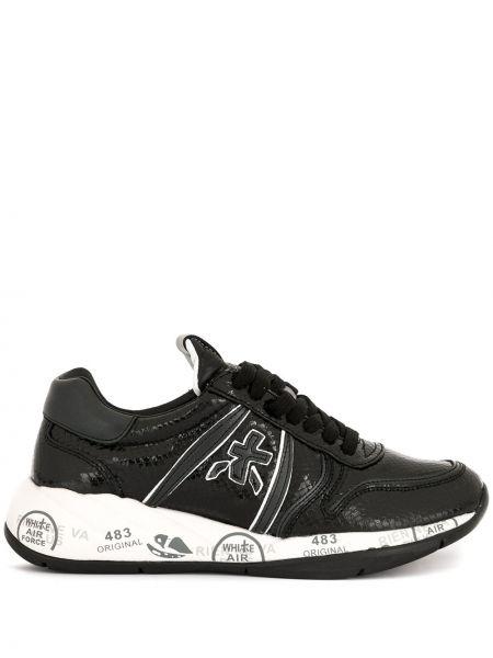 Кроссовки черные с логотипом Premiata