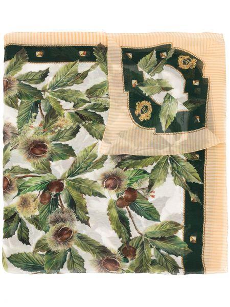 Zielony jedwab szalik przycięte Dolce And Gabbana