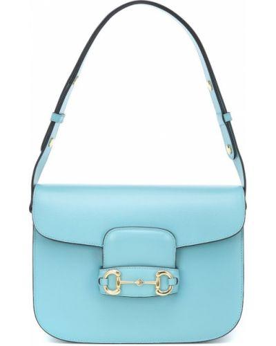 Złoty niebieski bawełna skórzany mini torebka Gucci