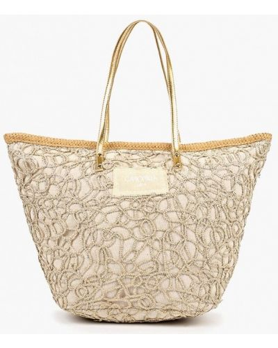 Пляжная сумка золотая весенний Camomilla Italia