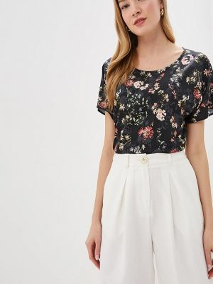 Блузка с коротким рукавом весенний черная Teratai