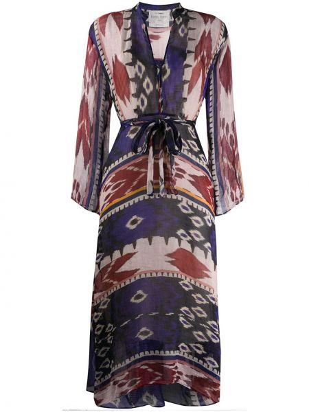 Платье с V-образным вырезом с абстрактным принтом Forte Forte