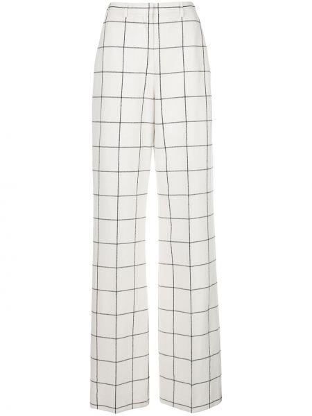 Шерстяные расклешенные брюки с поясом с высокой посадкой Jason Wu Collection