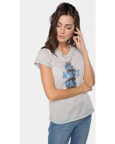 Рубашка с коротким рукавом серая Mr520