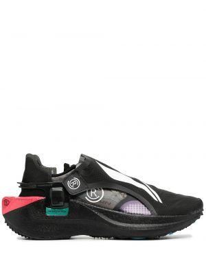 Черные кроссовки сетчатые на шнуровке со вставками Li-ning