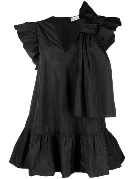 Черное платье с вырезом без рукавов Red Valentino