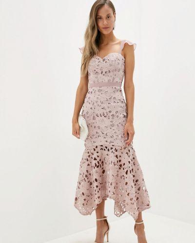 Вечернее платье осеннее розовое Chi Chi London