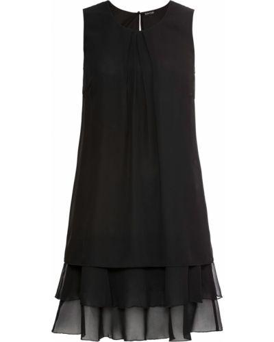 Шифоновое платье - черное Bonprix