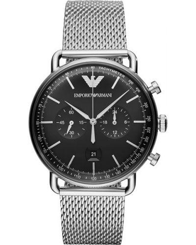 Часы водонепроницаемые серебряный черный Emporio Armani