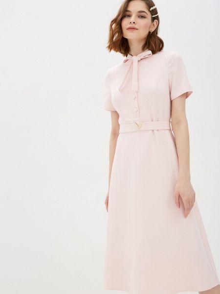 Платье розовое прямое Cavo