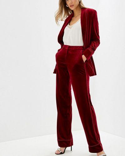 Брючный костюм бордовый красный Ruxara