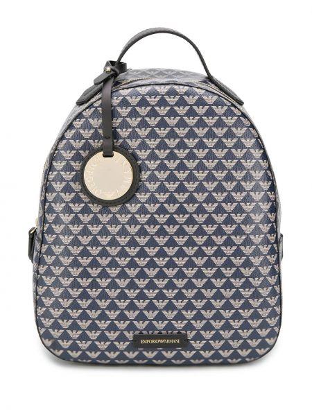 Plecak brązowy niebieski Emporio Armani