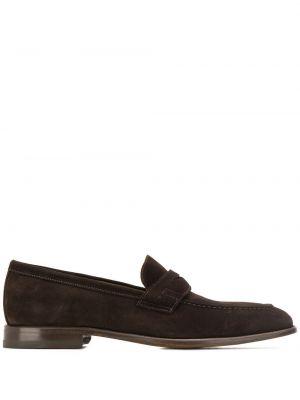 Brązowe loafers skorzane Scarosso