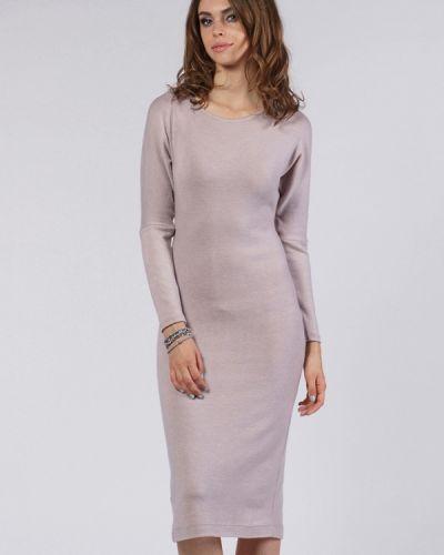 Повседневное платье розовое осеннее Evercode