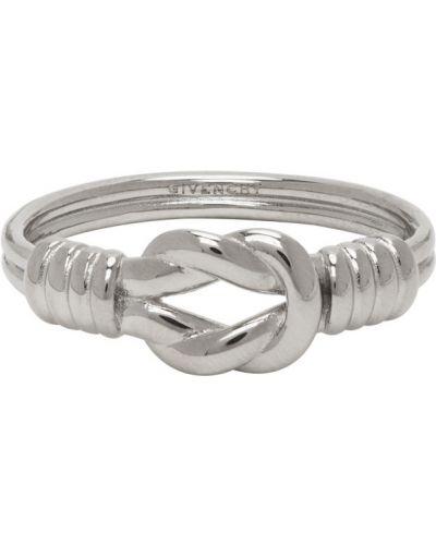 Кольцо серебряный с логотипом Givenchy