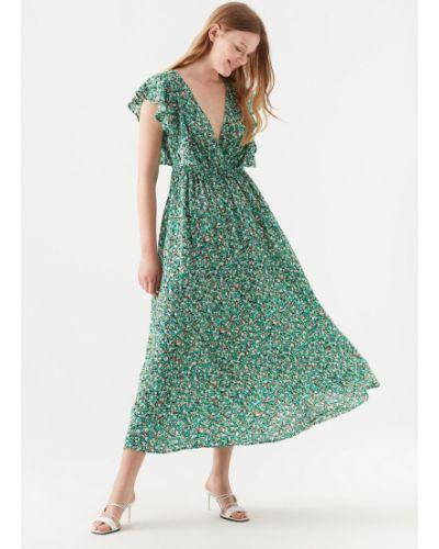 Хлопковое зеленое платье Mavi