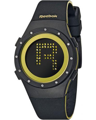 Кварцевые часы водонепроницаемые с камнями с подсветкой Reebok