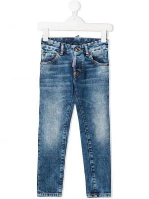 Bawełna bawełna niebieski klasyczny jeansy z kieszeniami Diesel Kids